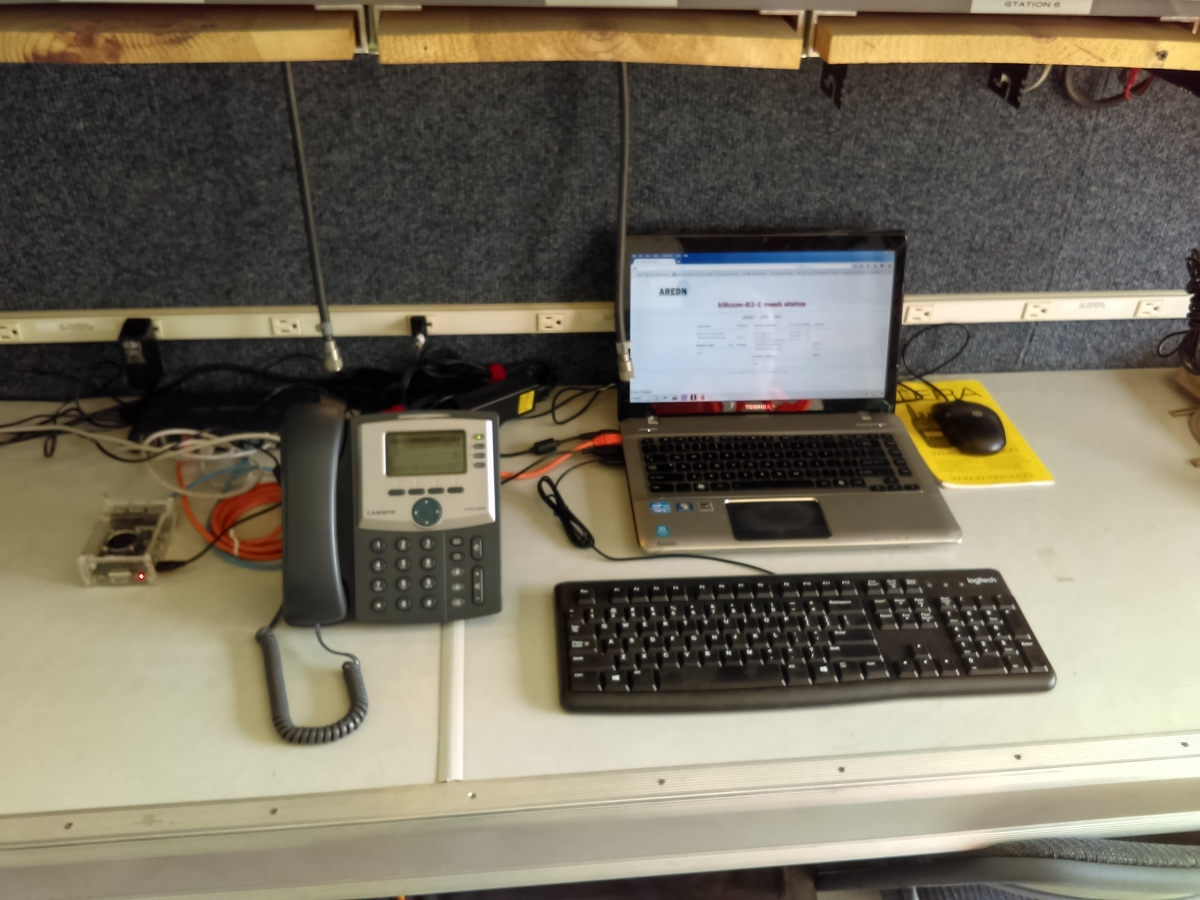 Demo of Mesh IP phone PBX system at event